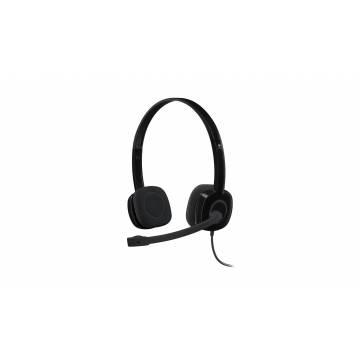 Logitech H151 Stereo Headset Black