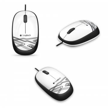 Logitech M105 USB Wired Mouse White