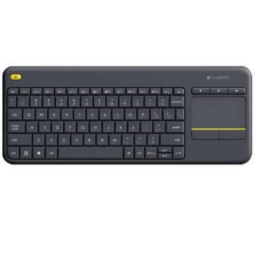 Logitech K400 Plus WL Touch Keyboard Black