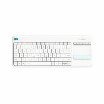 Logitech K400 Plus WL Touch Keyboard White